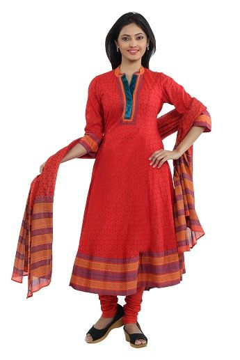 When you wish to feel and look simple and chic, then this elegant suit with a matching dupatta and churidar, is made for you. With its lovely embroidery on the yoke, it will help accentuate your personality, with all its charm. Add this to your suit collection today! WITH CHURIDAR N LACE ON NECK....http://www.seveneast.in/index.php?route=product/product&path=79&product_id=126