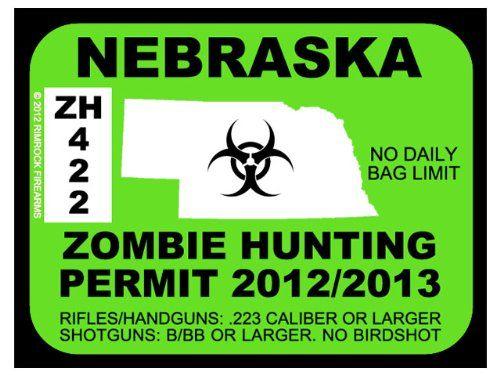 Nebraska zombie hunting permit teen halloween lock in for Nebraska fishing license