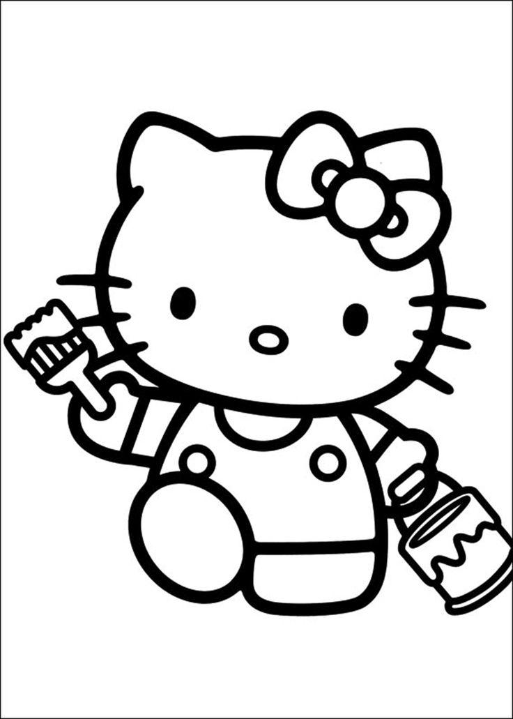 18 Besten Hello Kitty Ausmalbilder Bilder Auf Pinterest