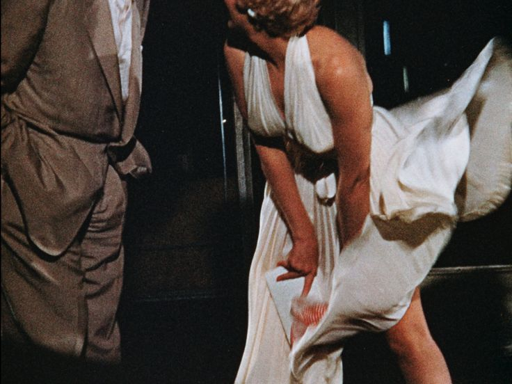 That film image of Ms. Monroe's skirt rising high in a gust of air? It's a reshoot of a discarded and more risqué scene seldom seen until now.