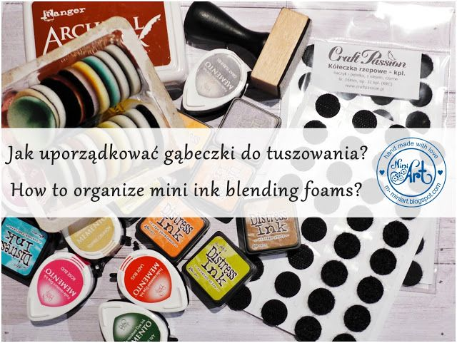Blog Craft Passion: Rzep i tusze / Hook&loop and inks
