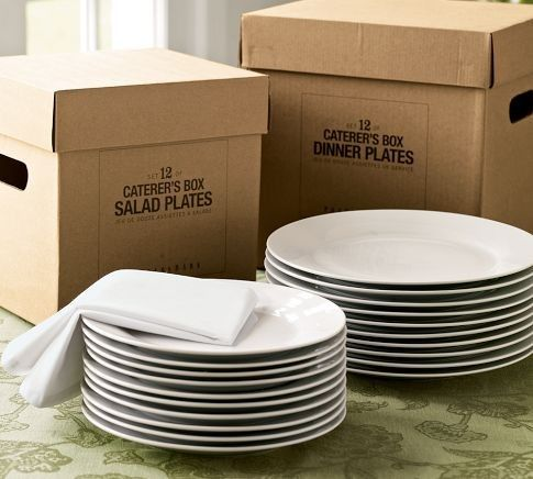 traditional dinnerware by Pottery Barn Caterer's 12-Piece Dinnerware Set - $39.00 » Pottery Barn's Caterer's Box of white porcelain dinnerware is smart and affordable. When I saw this on a friend's wedding registry, I knew she was a genius.