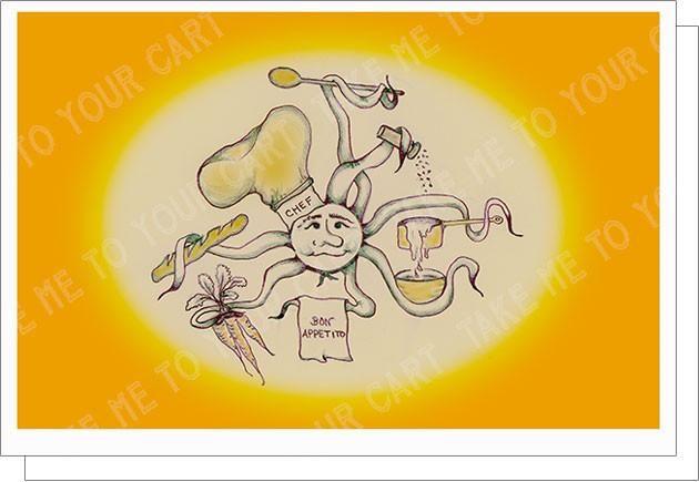 Chef Bon Appetito Greeting Card