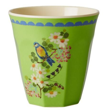 Melamine cup - Vintage flower green Retro Baby Clothes - Baby Boy clothes - Danish Baby Clothes - Smafolk - Toddler clothing - Baby Clothing - Baby clothes Online