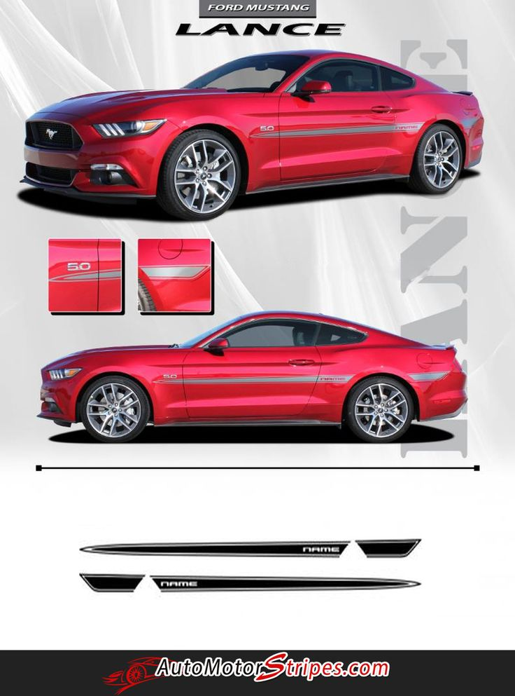 2015 2017 ford mustang lance side spike spears stripes vinyl graphics 3m decals vinyls models. Black Bedroom Furniture Sets. Home Design Ideas