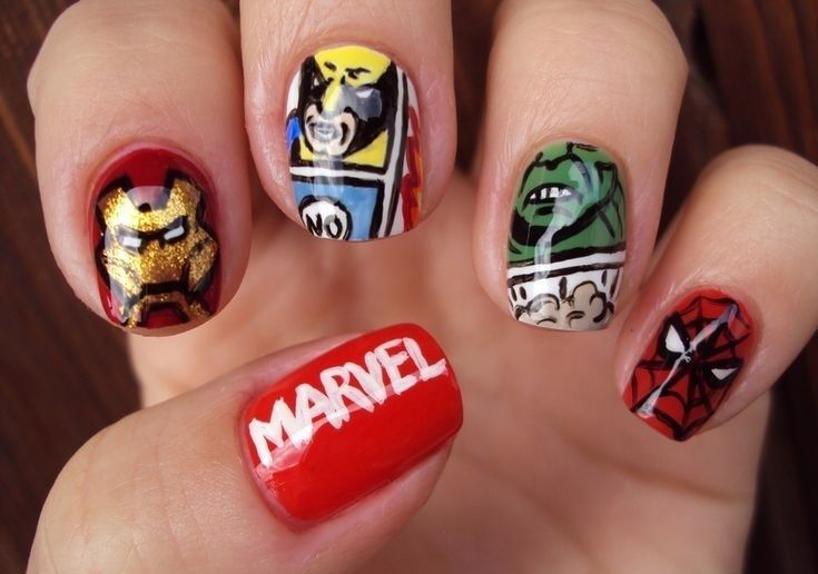 Marvel Nail Art Picture