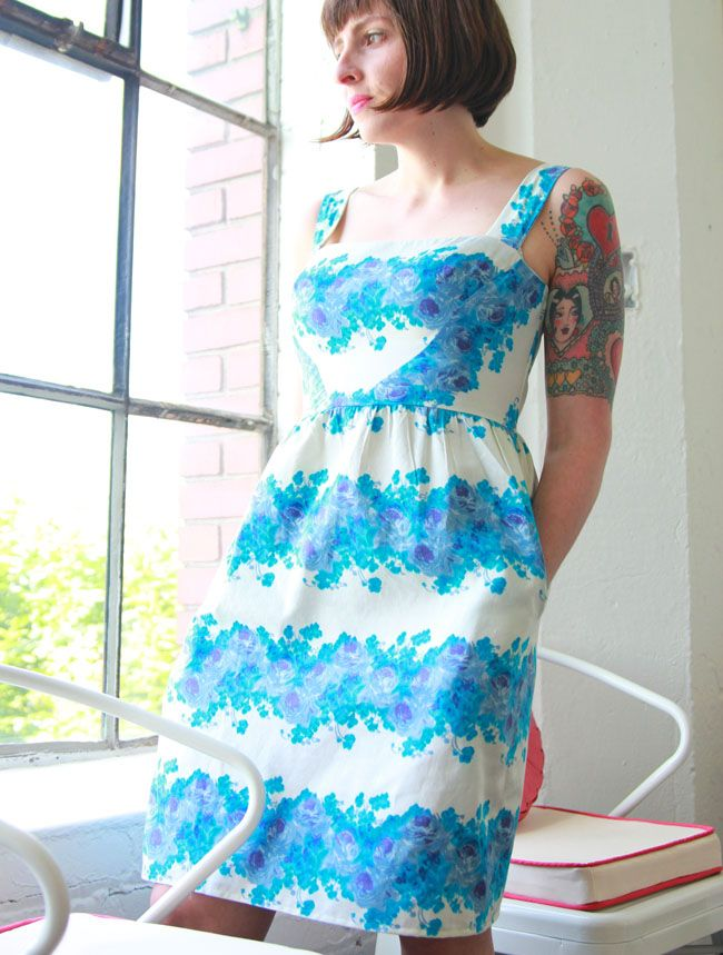 Love this gorgeous dress from Colette Patterns in PDX