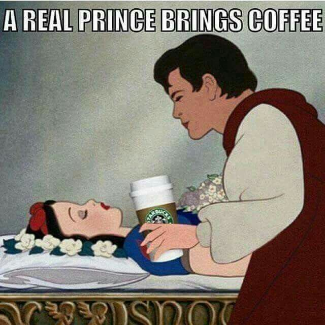 My hubby brings me coffee a good bit! He doesn't drink it but he makes it for me just the way I like it.