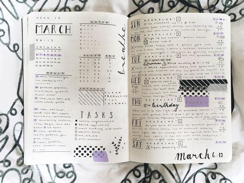 planner, journal, and bujo image