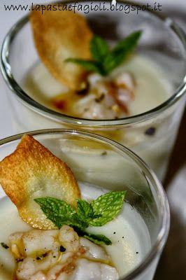 La Pasta & Fagioli: Gambero al porto su crema di topinambur e chips croccante + Olio Flaminio Dop Umbria Colli Assisi Spoleto