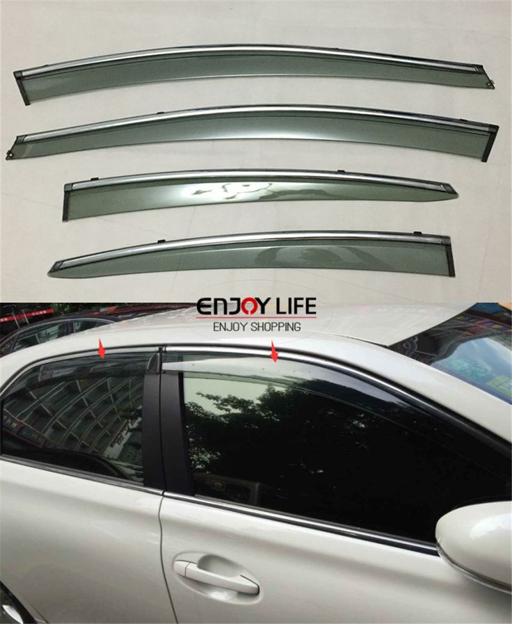 Sun Rain Visor Vent Window Deflector Shade Shield Guard For Hyundai Elantra 2011 2014