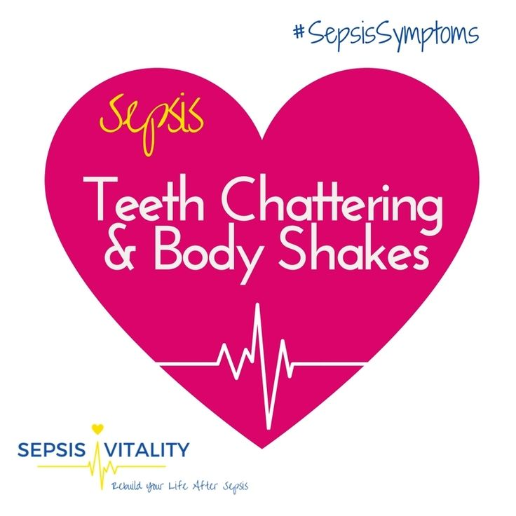 Teeth Chattering And Body Shakes - My Sepsis Symptoms! . One of the other 'sets' of symptoms - which I will NEVER forget - was the swopping between profusely sweating and being freezing cold. . Now I know that some of these symptoms are what you would experience if you had pneumonia - which I had. And I've had colds and the flu before, or gastro bugs when you have a temperature. You feel terrible and you have some form of 'the sweats' or 'the shivers'.  . But when I think back to how…