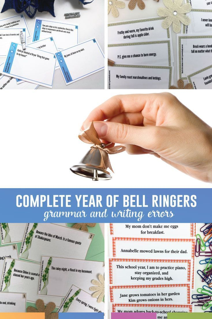 Bell Ringers Task Cards Bundle Grammar Errors For Language Arts High School English Lesson Plans Grammar Task Cards Middle School Language Arts Lessons [ 1102 x 735 Pixel ]
