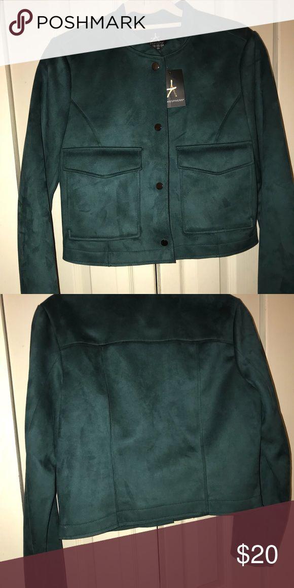 NEVER WORN SUEDE FOREST GREEN JACKET !! Warm dark green suede jacket that has never been worn! Made of 93% polyester and 7% elastane. primark Jackets & Coats Jean Jackets
