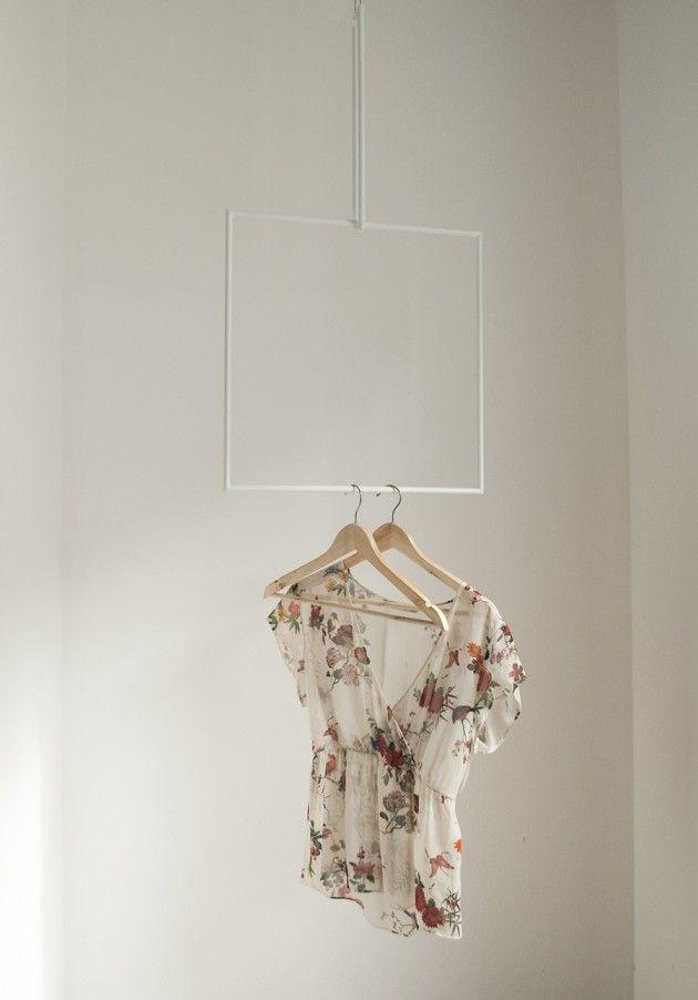 Colgadores geométricos // Cuadrado blanco // Studio M+S (Melissa Dupont+Sybil Roose)