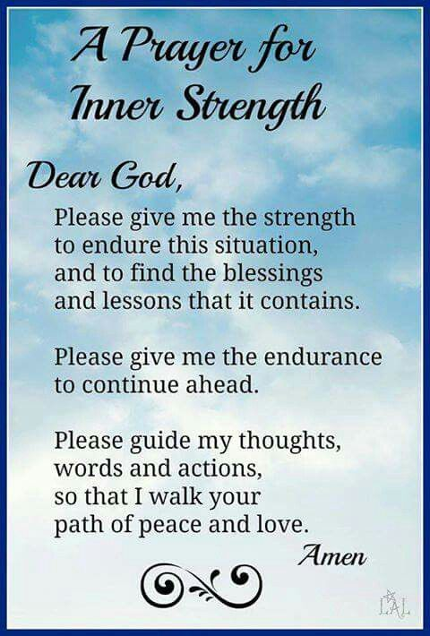 A prayer for inner strength