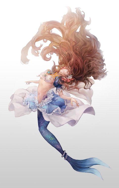 「【黄道十二星座擬人化】魚座(Pisces)」/「ぴよたま」のイラスト [pixiv]