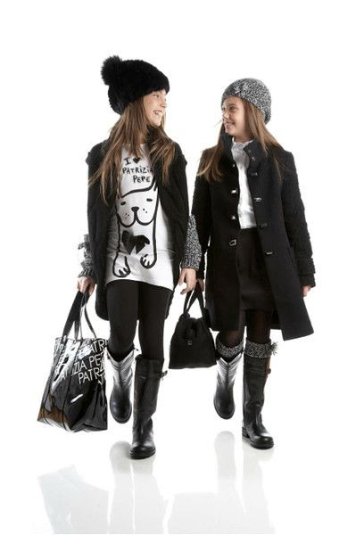 Patrizia Pepe FW 2012 kid girl fall fashion style. I can see my daughter wearing something like this. She has her momma's style.