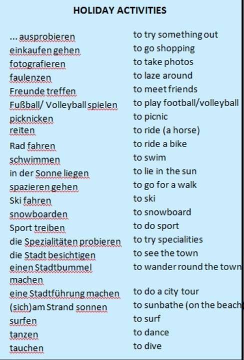 Deutsch holyday activities                                                                                                                                                                                 More