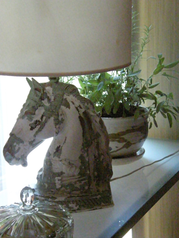 Distressed Horse Head Lamp Inspiration Pinterest