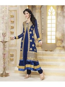 "Beautiful Georgette anarkali salwar kameez online at ""High5Store""."