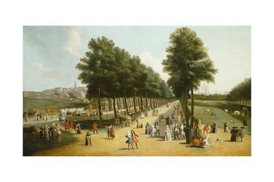 View of the Mall in St James's Park, 1709-10 Giclee Print by Marco Ricci at Art.com