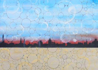 """Saatchi Online Artist Guido Pierandrei; Painting, """"serie GOVERNMENTOFLOVE-Skyline"""" #art"""
