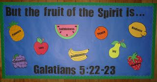Adventures of a Not-So-Desperate Housewife: Fruit of the Spirit Bulletin Board