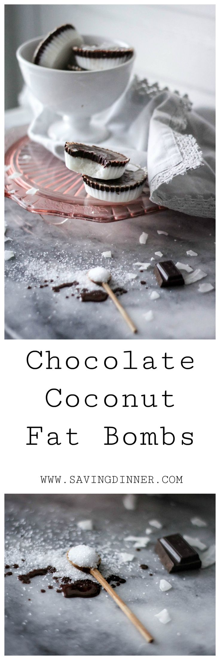 Keto and Paleo friendly fat bombs! Chocolate Coconut Fat Bombs that are full of coconut oil, coconut butter, all that good fat and diary-free, refined sugar free! A delicious and easy recipe for a treat or snack!