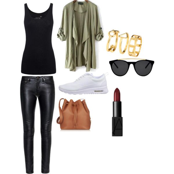Untitled #42 by bestari09 on Polyvore featuring polyvore fashion style Juvia Yves Saint Laurent NIKE Sophie Hulme H&M Smoke & Mirrors NARS Cosmetics