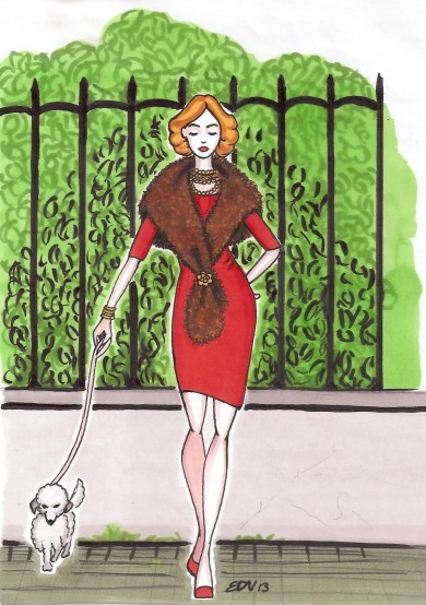 Come indossare stola di pelliccia_how to wear fur # www.bollicinedistile.com