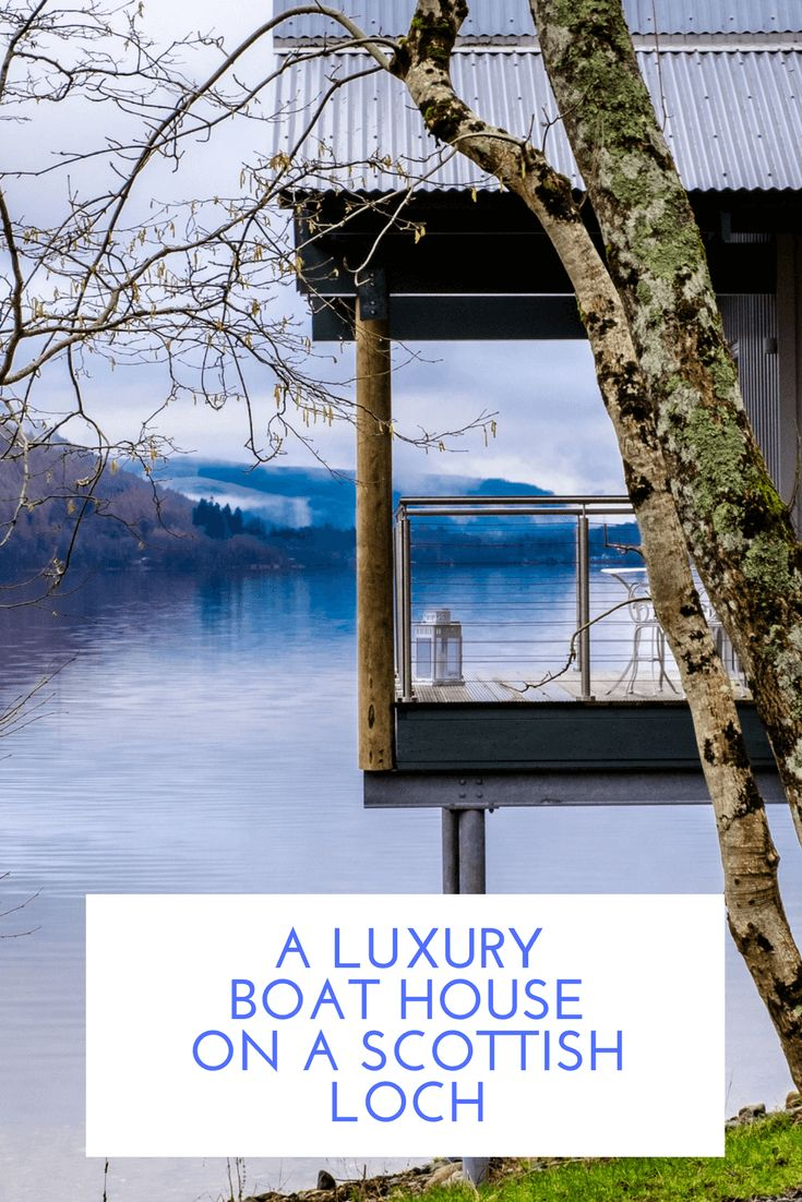 Luxury boathouse accommodation on the banks of Loch Tay in Scotland
