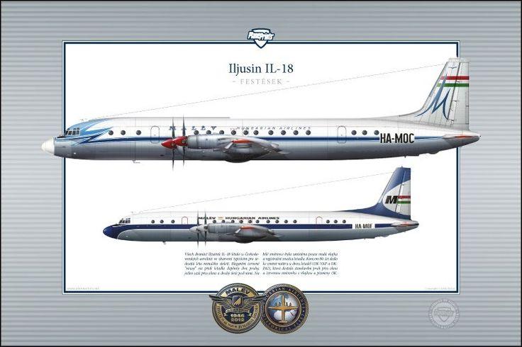 Malev Ilyushin IL18 profile