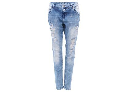 Světle modré džíny s potrhaným efektem ONLY Lisa