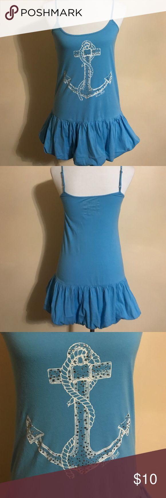Victoria Secret Beach Dress True Pink Love dress. Size XS. Blue color. Used but still ok. PINK Victoria's Secret Dresses