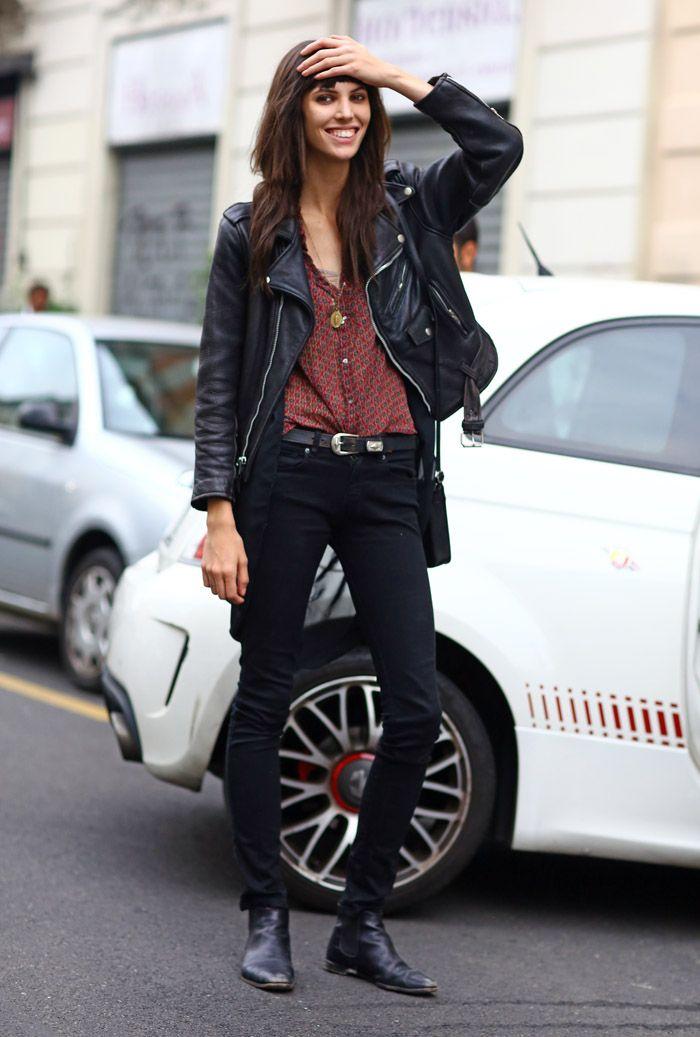 Ruby Aldridge, Milan Leather   Street Fashion   Street Peeper   Global Street Fashion and Street Style
