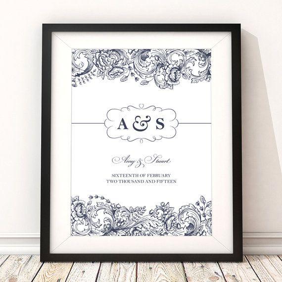 Personalised Print Wedding / Anniversary Custom by BirdAndKeyUK