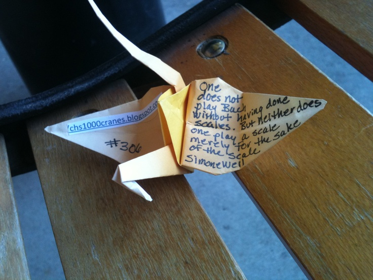 1000 Paper Crane Project