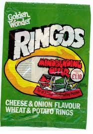 Ringos -remember dad doing a job at the golden wonder factory and coming home with a whole box of these when they were new out!