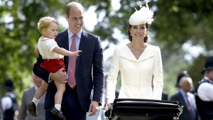Hertuginde Catherine, prins William, prinsesse Charlotte, prins George