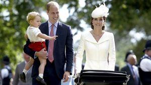 Hertuginde Catherine, prins William, prinsesse Charlotte, prins George