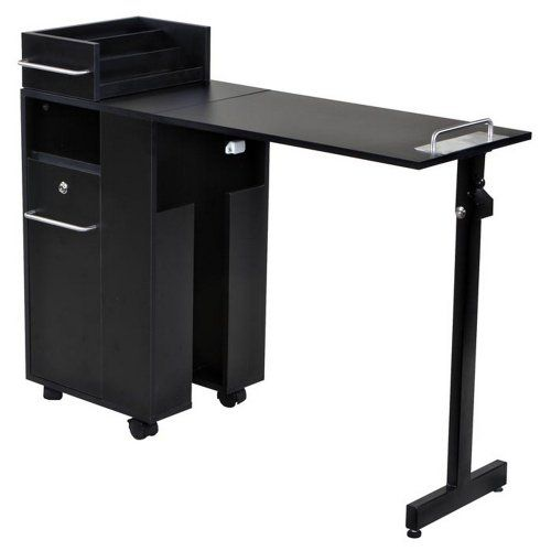 """Exceptional"" Black Manicure Nail Table Station..."