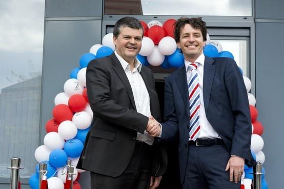 Bast Somers (Burgemeester Mechelen Belgie) en Bas van der Veldt