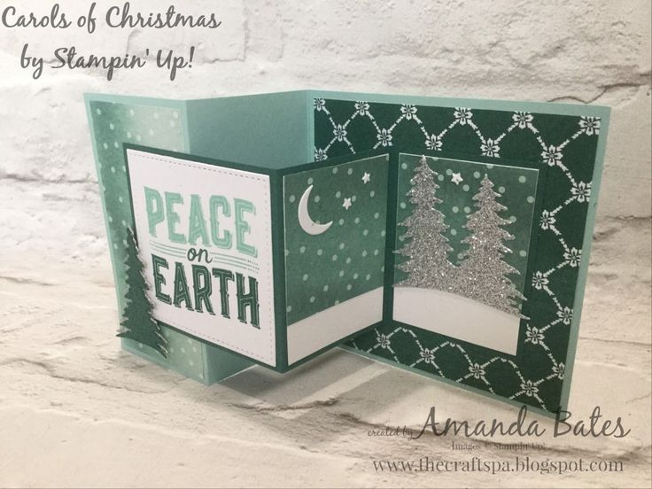 Carols Of Christmas & Card Front Builder Dies Double Z Joy Fold Card by Amanda Bates at The Craft Spa in the UK. Independent Stampin Up! Demonstrator, Blogger and Tutorial Publisher with Online Shop 24/7