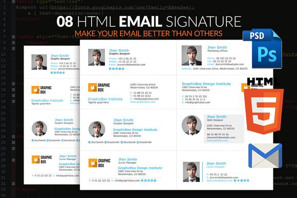 Email Signature by pixel_arc on @creativemarket