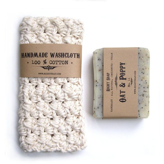 BATH SET - Soap and washcloth , Pick your natural soap, crochet washcloth, gift s for men , valentine gifts for women,