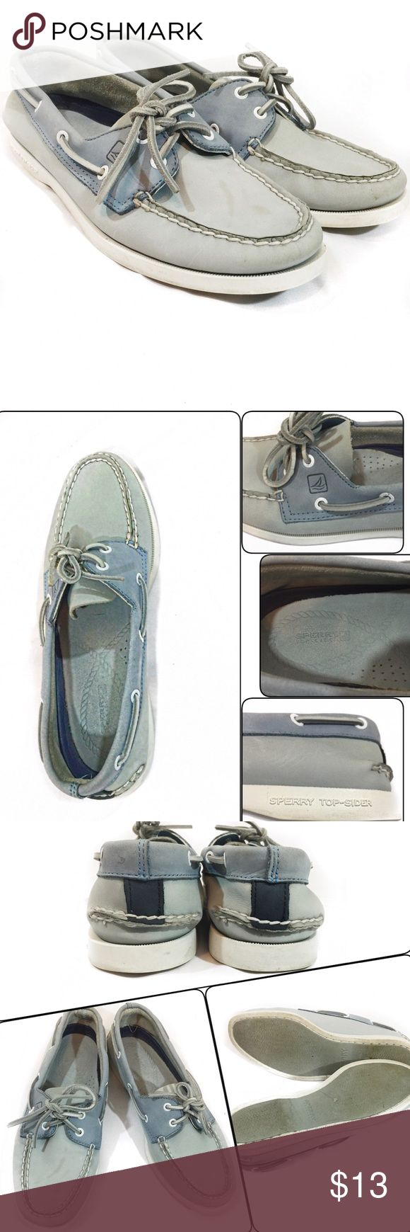 SPERRY TOP-SIDER For sale is a beautiful authentic light-blue Sperry Top-Sider; The only issue and the only reason why I am giving this away at a cheap price is because of the stain (see last picture). I am not an expert in removing stains but I do know some people who are super good in removing any type of stain. Otherwise, this shoe is in excellent condition. Leather upper#9253022. ❗️PRICE IS FIRM❗️ Sperry Top-Sider Shoes Flats & Loafers