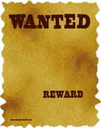 Wanted poster background paper sheet border paper design,