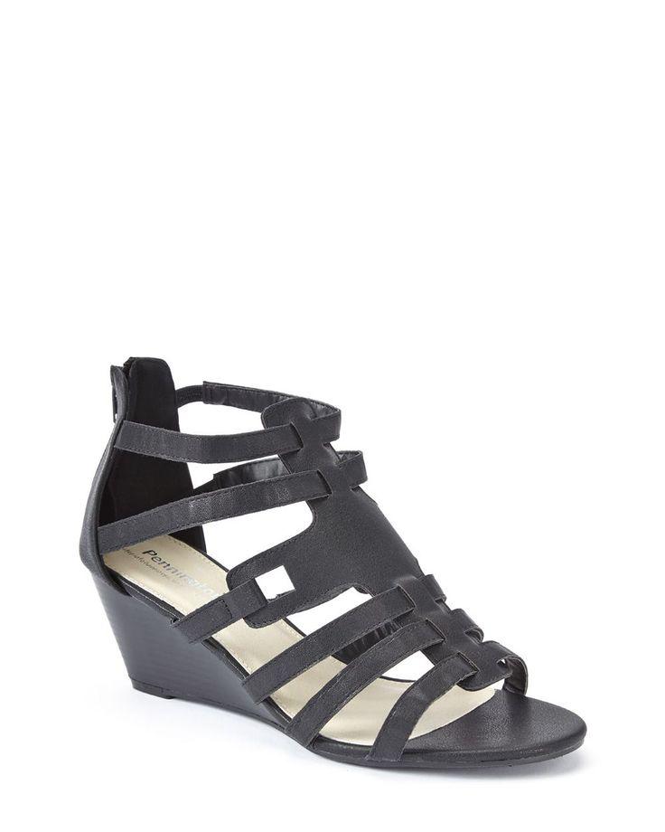 Wide-Width Wedge Sandals #penningtons #plussizefashion ...