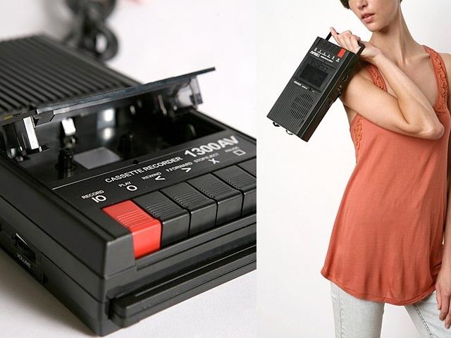 cassette recorders. used this to record favourite music (mix tapes) and radio shows.